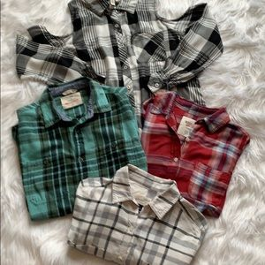 Flannel shirts lot of sm/ xs. Buy 3 get 4th free